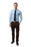 Integrale dell'uomo di affari maturi isolato su bianco Fotografia Stock Libera da Diritti