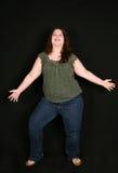 Integrale della donna di peso eccessivo felice immagine stock