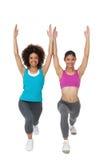 Integrale delle donne che fanno esercizio di forma fisica di potere Fotografie Stock Libere da Diritti
