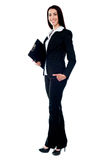 Integrale di giovane donna di affari Immagine Stock