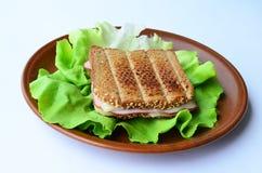 Integrales Toast-, Schinken- und Käsesandwich  Stockfoto