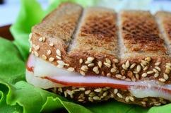 Integrales Toast-, Schinken- und Käsesandwich 5 Lizenzfreies Stockfoto