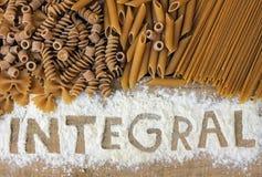 Integralpasta Arkivbild