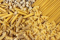 Integrals pasta - texture Stock Photo