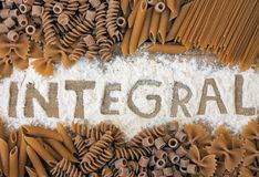 Integrals pasta Stock Photography
