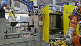 Integrated automatic casting production line stock footage
