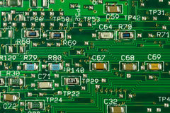 Integrated circuit. With chips (green Stock Images