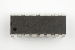Integrated circuit. An image of a single integrated circuit isolated on a white background Stock Photography