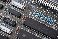 Integrated circuit 2. Integrated circuit, resistors and board Royalty Free Stock Photo