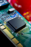 Integrated circuit. Close up of a integrated circuit on board Royalty Free Stock Photography