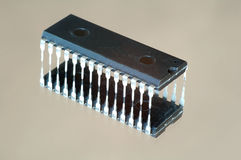Integrated circuit. Isolated with reflection Stock Images
