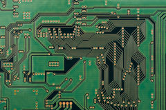 Integrated circuit. The Wafer of Integrated circuit shot in macro Stock Photos