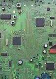 Integrated circuit board. Detail of integrated circuit board with chip Royalty Free Stock Photography