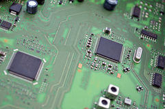 Integrated circuit board Stock Images