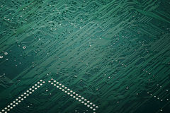 Integrated circuit board macro. With details of solder Stock Image