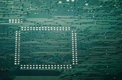 Integrated circuit board macro Stock Photography
