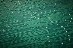 Integrated circuit board macro Stock Photos