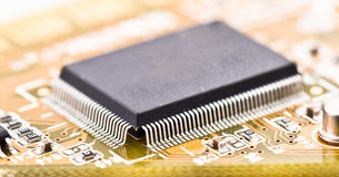 Integrated circuit chip. Integrated circuit, electronic chip microprocessor royalty free stock photography