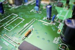 Integrated Circuit. Closeup of a resistance in an integrated circuit Stock Images