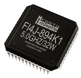 Integrated circuit of digital microprocessor in computer parts. Isolated. stock images
