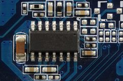 Integrated Circuit. On the graphic board of a computer Stock Image