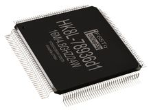 Integrated circuit information micro chip and new technologies on isolated. stock photography