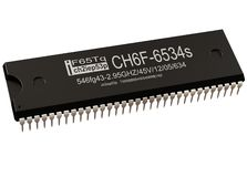 Integrated circuit or micro chip new technologies computer parts controller. royalty free stock photo