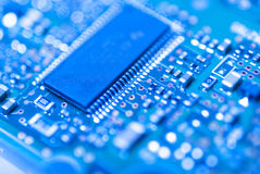 Integrated circuit. Modern integrated circuit close up Royalty Free Stock Images