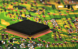 Integrated Circuit from Modern Electronic Equipment Stock Images
