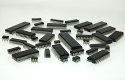 Integrated circuits Royalty Free Stock Photography