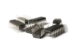 Integrated circuits Royalty Free Stock Photos