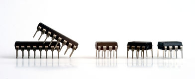 Integrated circuits Stock Photos