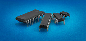 Integrated circuits Royalty Free Stock Image