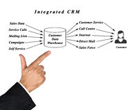 Integrated CRM. Presenting diagram of Integrated CRM Royalty Free Stock Photography