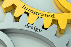 Integrated design concept on the gearwheels Royalty Free Stock Photos