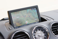 Integrated GPS in dashboard over Spain Royalty Free Stock Photography