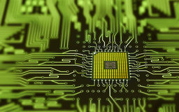 Integrated micro chip Stock Image