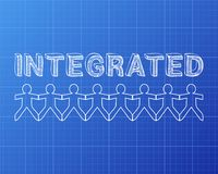Integrated People Blueprint Royalty Free Stock Image