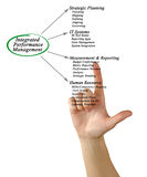 Integrated Performance Management. Diagram of Integrated Performance Management Stock Photos