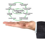 Integrated System. Presenting diagram of Integrated System Royalty Free Stock Photography