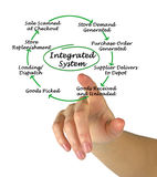Integrated System. Presenting diagram of Integrated System Stock Photography