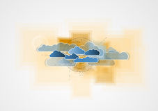 Integratietechnologie met aard, hemel Beste ideeën voor Zaken Royalty-vrije Stock Afbeeldingen