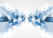 Integratietechnologie met aard, hemel Beste ideeën voor Zaken Royalty-vrije Stock Foto