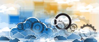 Integratietechnologie met aard, hemel Beste ideeën voor Zaken stock illustratie