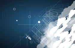 Integratietechnologie met aard, hemel Beste ideeën voor Zaken Royalty-vrije Stock Afbeelding