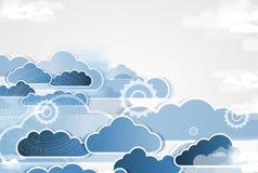 Integratietechnologie met aard, hemel Beste ideeën voor Zaken Stock Fotografie