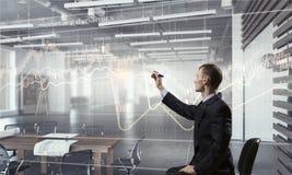 Integrating new technologies . Mixed media Royalty Free Stock Photos