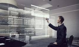 Integrating new technologies . Mixed media Stock Images