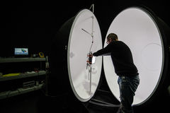 Integrating sphere photometer ball in the enterprise laboratorie Stock Photography