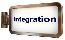 Integration auf Anschlagtafelhintergrund lizenzfreie abbildung